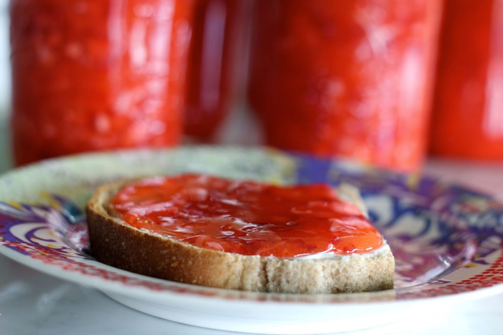 Strawberry Coconut Freezer Jam