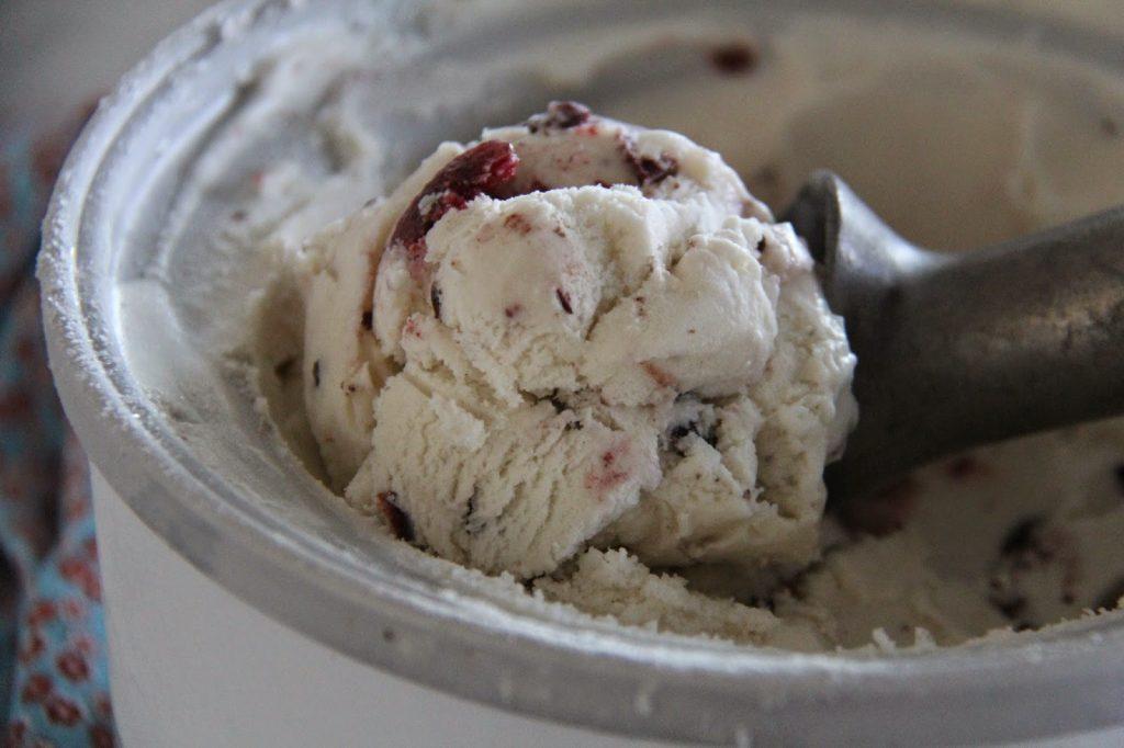 Dark Cherry and Chocolate Chunk Ice Cream