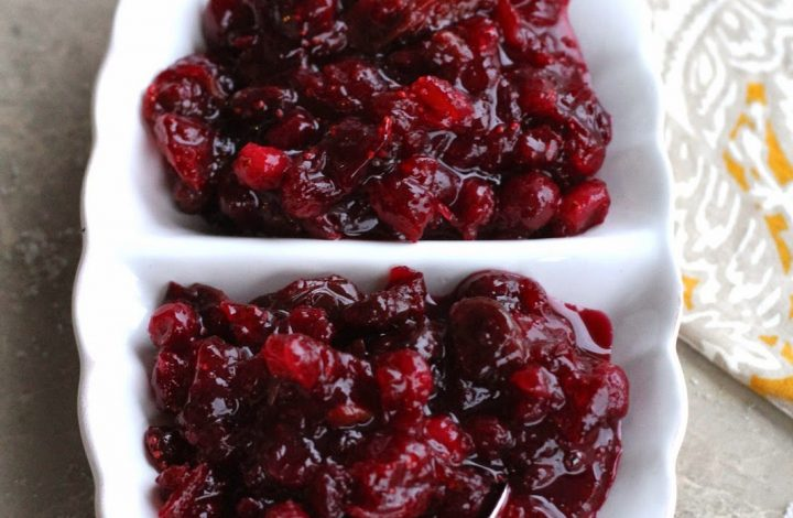 Fresh Cranberry, Orange and Dried Cherry Sauce