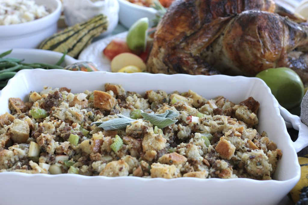 Mom's Apple, Sausage and Herb Stuffing