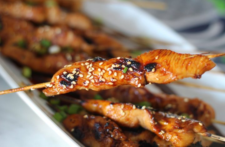 Sweet and Spicy Asian Chicken Skewers