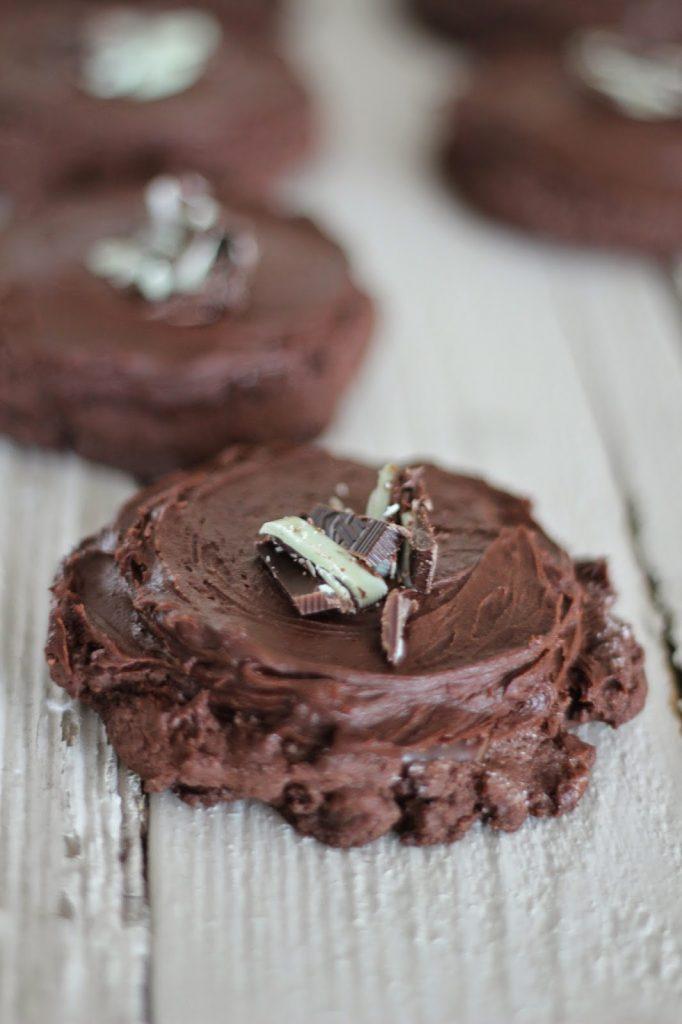 Triple Chocolate Mint Swig Cookies