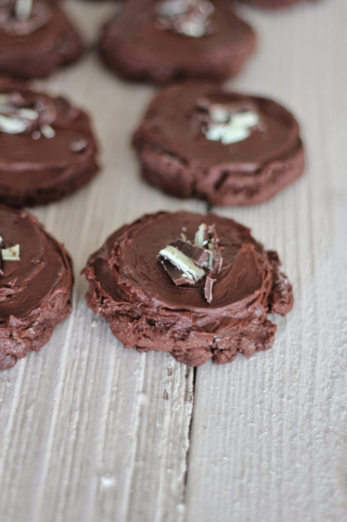 Triple Chocolate Mint Swig Cookies