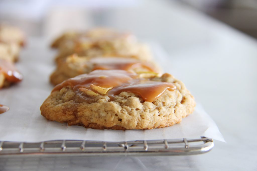 Caramel Apple White Chocolate Cookies