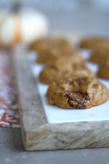 Chewy Pumpkin Milky Way Cookies