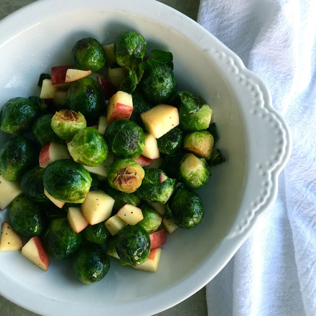 Sautéed Brussels Sprouts and Apples