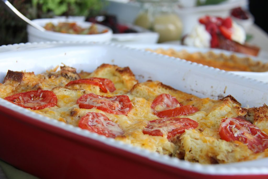 Christmas Morning Brioche and Tomato Bake