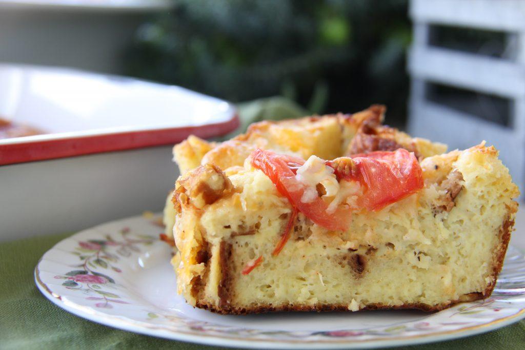 Christmas Morning Brioche and Tomato Bake