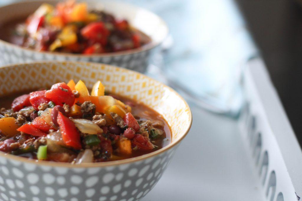Turkey and Fresh Veggie Chili