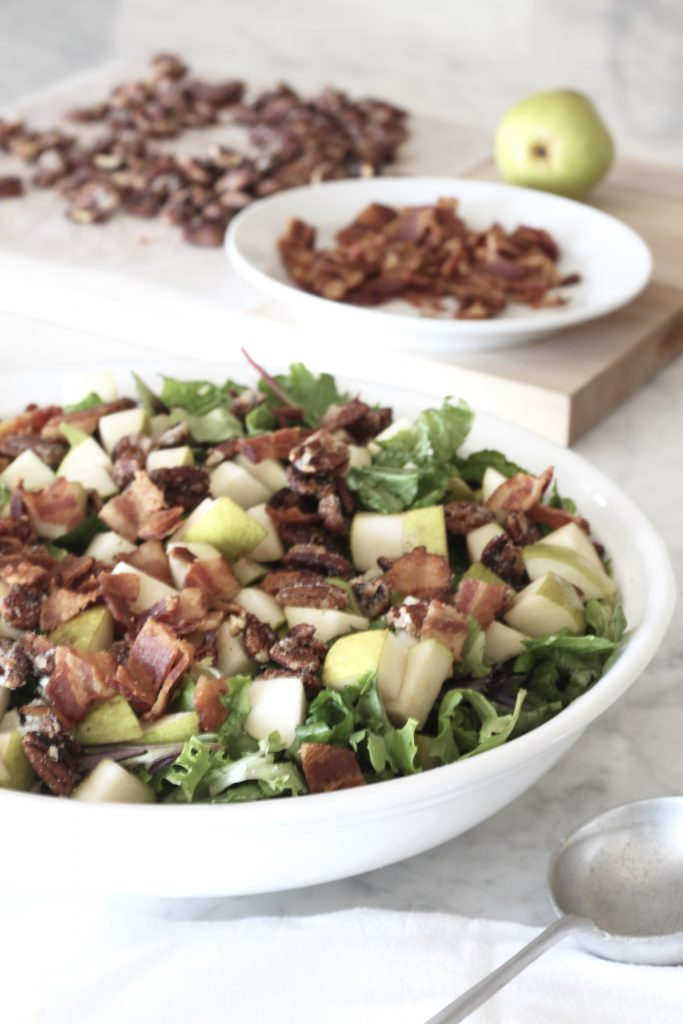 Pear and Pecan Salad with Sweet Red Wine Vinaigrette