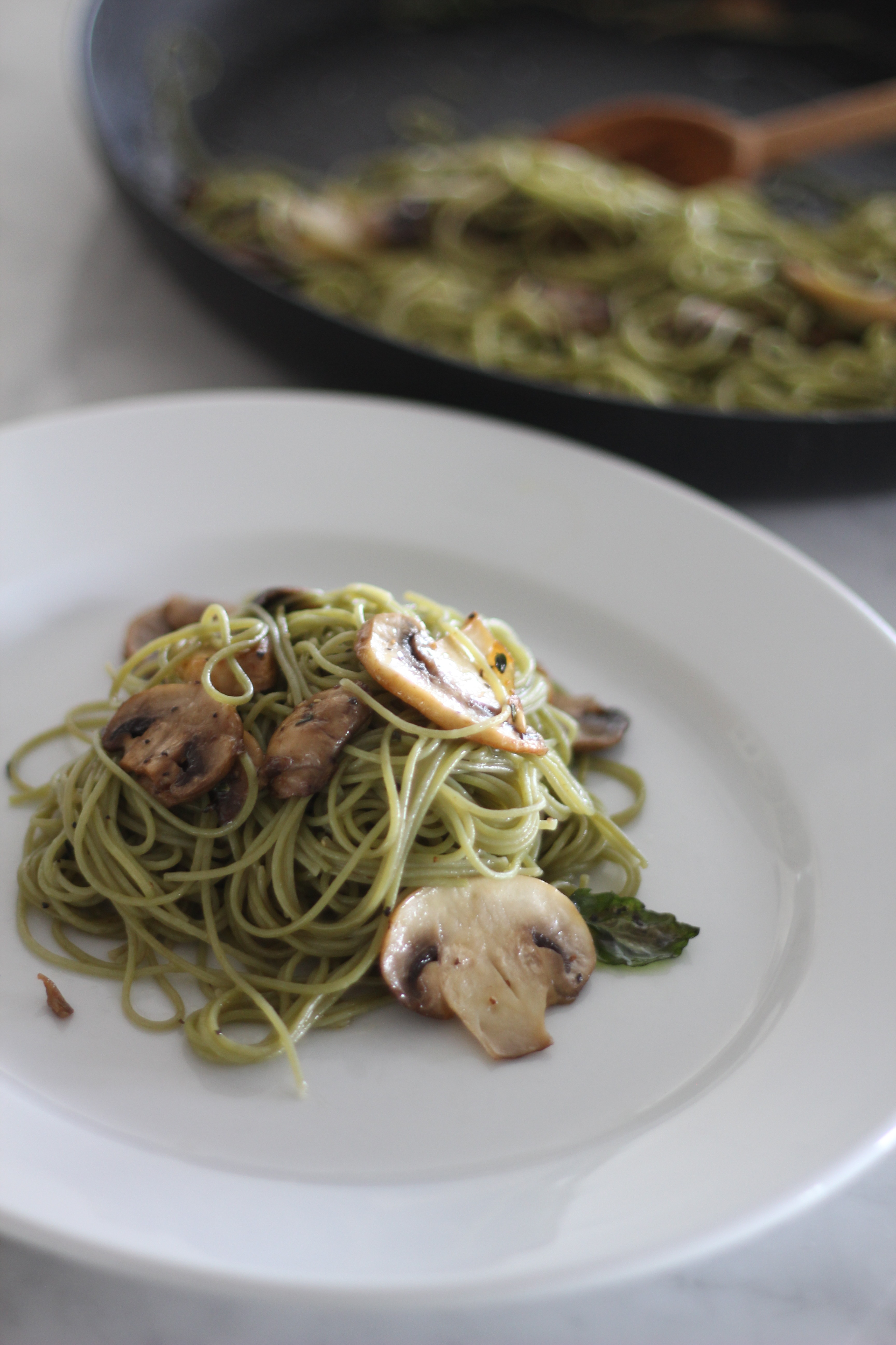 Angel Hair Pasta With Herb Butter A Bountiful Kitchen