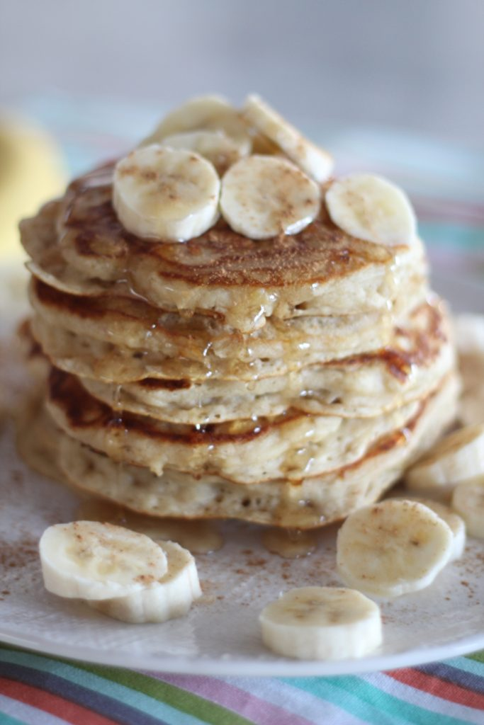 Banana Bread Buttermilk Pancakes | A Bountiful Kitchen