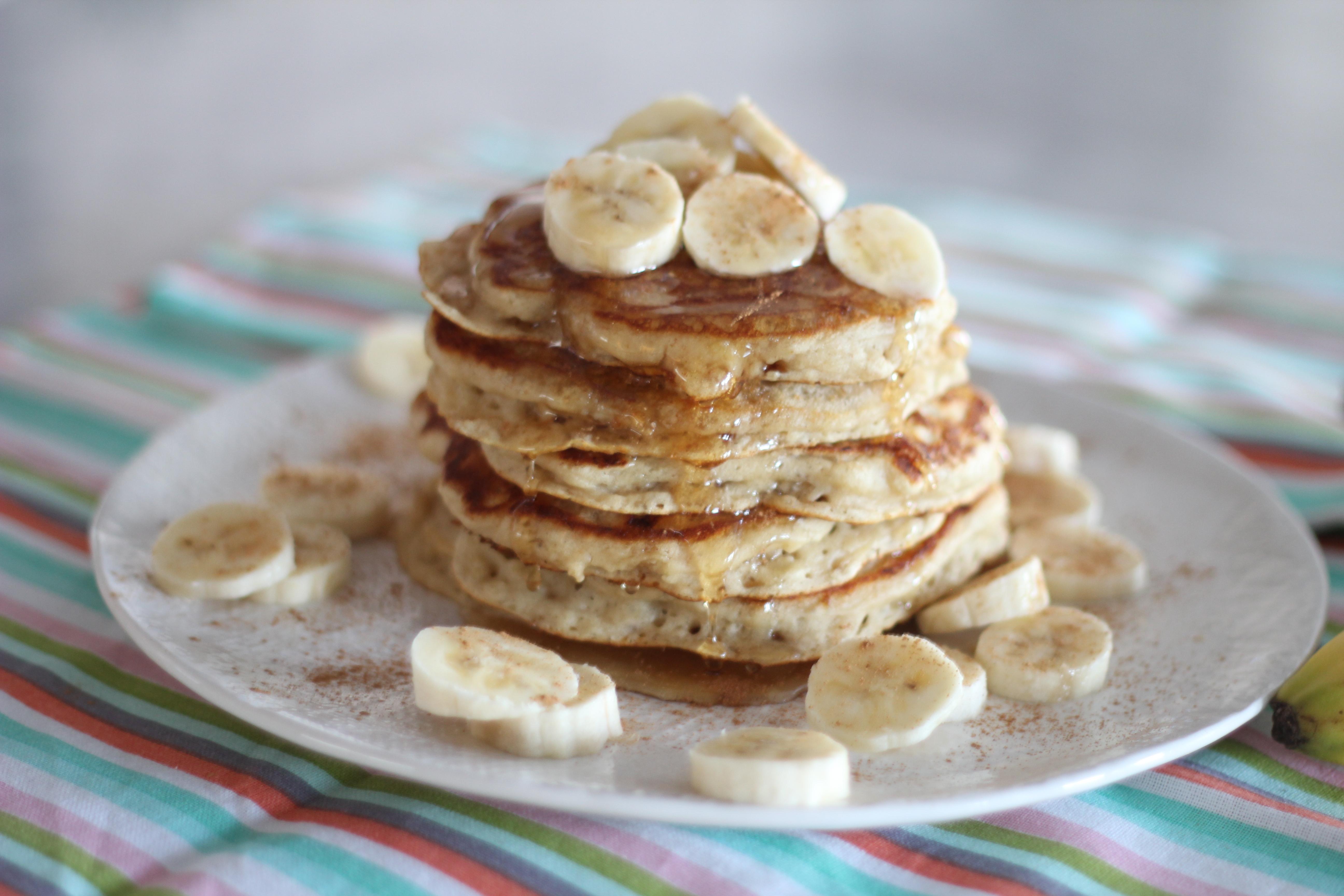 Banana Bread Buttermilk Pancakes - A Bountiful Kitchen