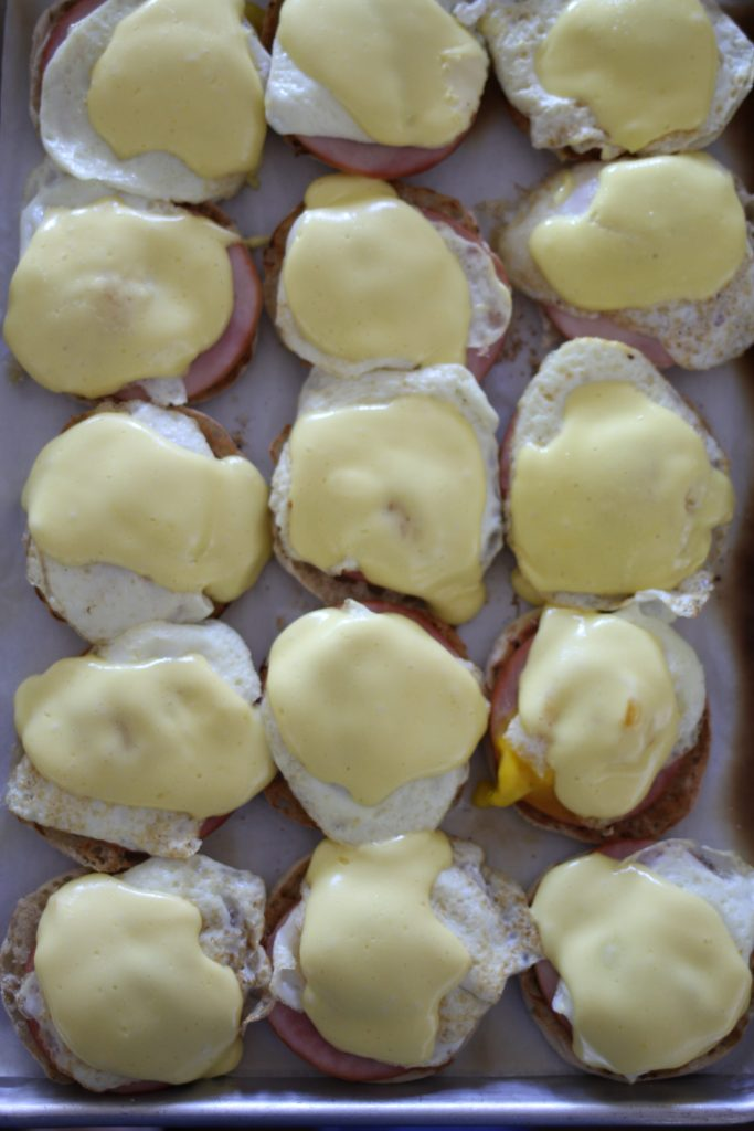 Sheet Pan Eggs Benny with Simple Blender Hollandaise Sauce