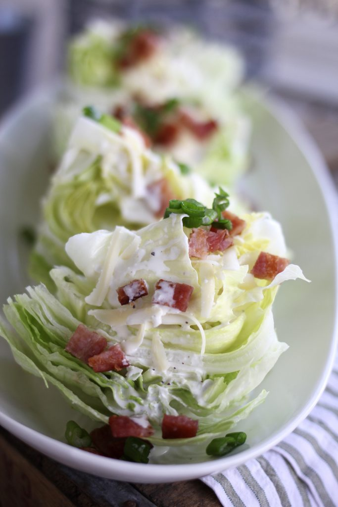 Wedge Salad with Green Onion Dressing