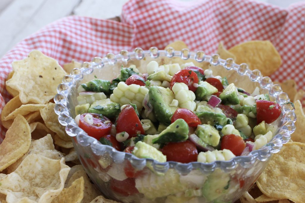 Quick and Easy Corn, Tomato and Avocado Salsa