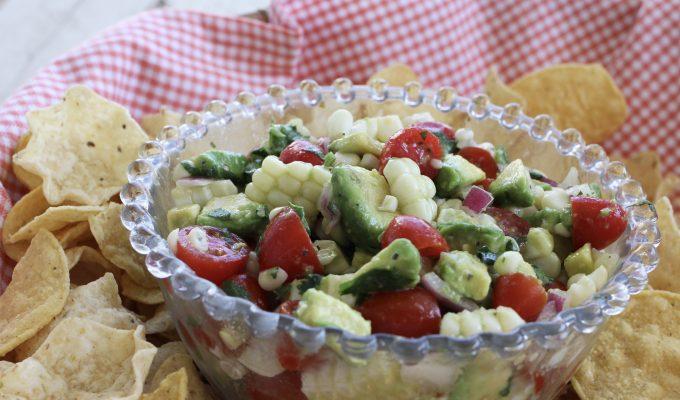 Quick and Easy Corn, Tomato and Avocado Salsa
