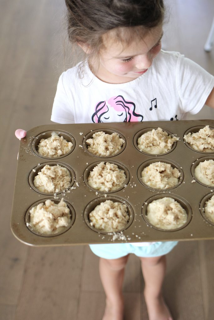 Peach and Coconut Muffins with Coconut Streusel