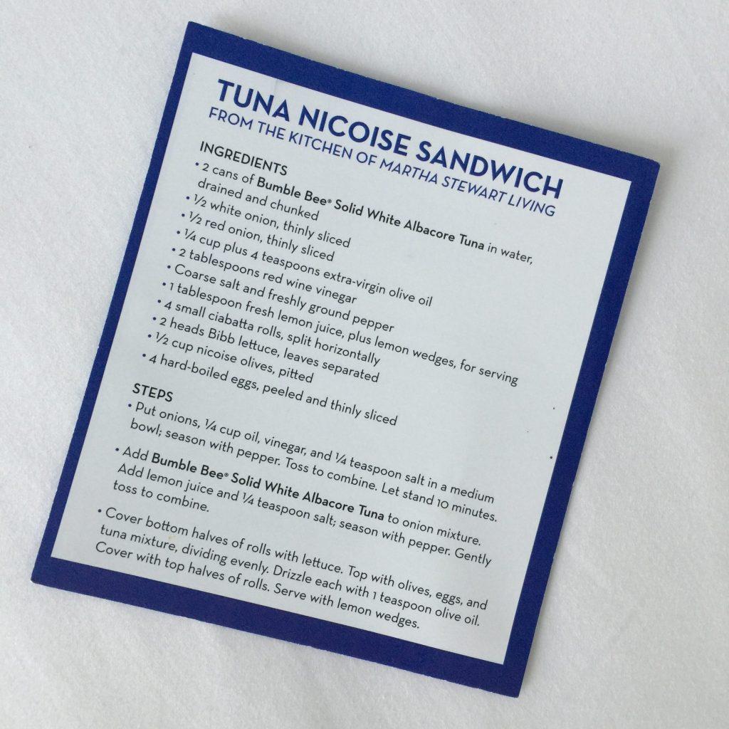 Tuna NicoiseSandwich