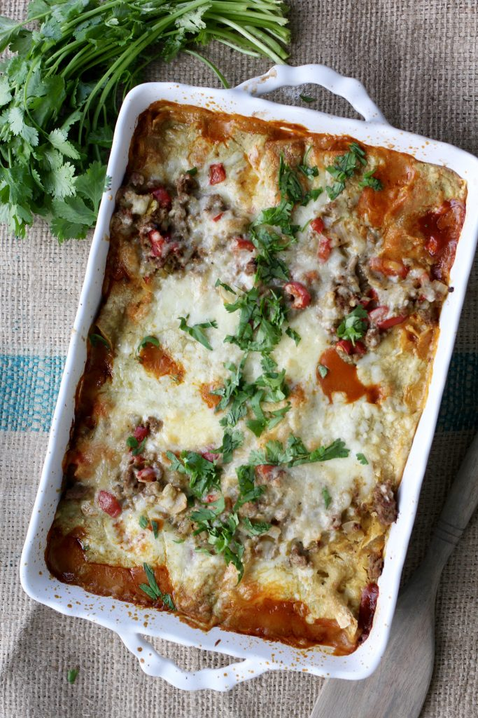 Weeknight Turkey Enchiladas
