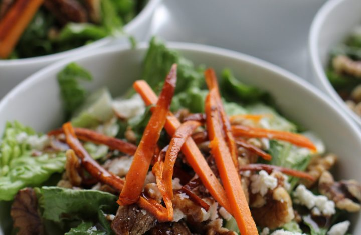 Fig, Walnut and Goat Cheese Salad with Pumpkin Spice Dressing