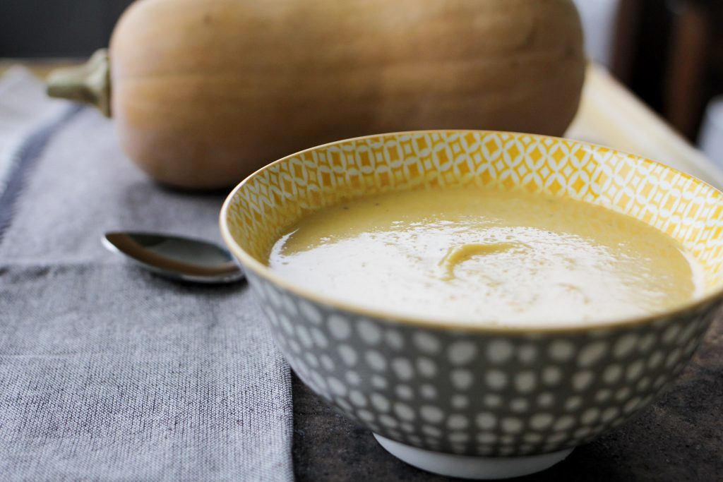 One Pot Butternut Squash Soup