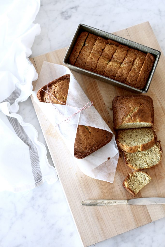 Favorite Sour Cream Banana Bread