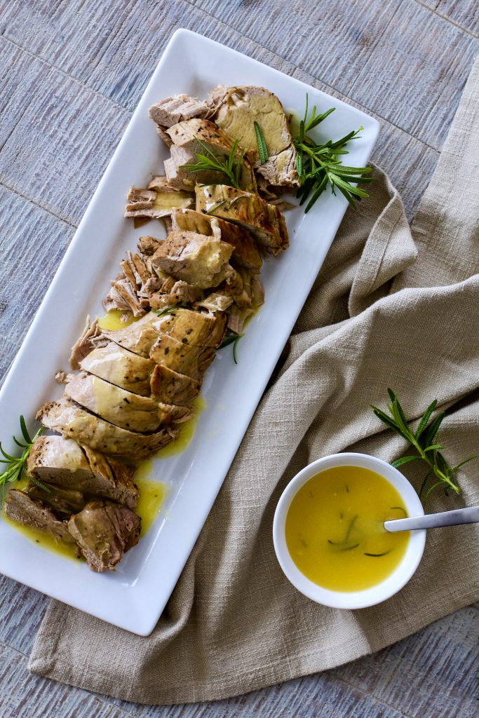 Instant Pot Pork Tenderloin with Orange Rosemary Glaze