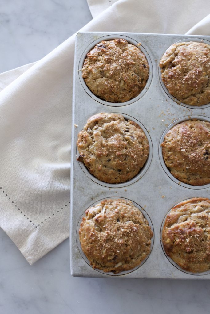 Peanut Butter Banana Power Muffins