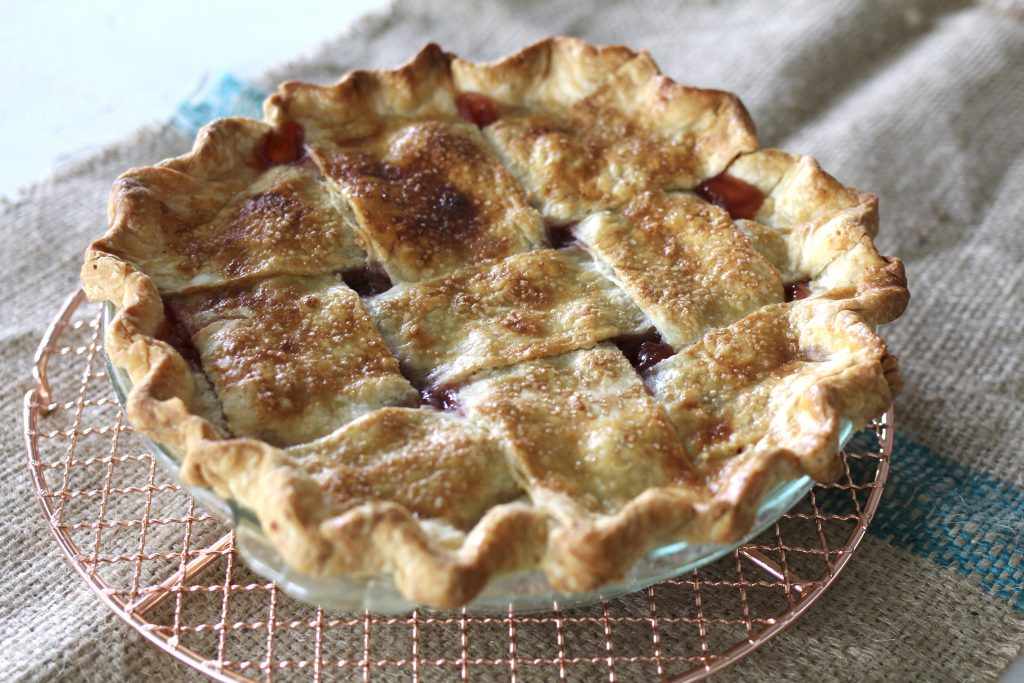 Sour Cherry Pie with Lattice Crust