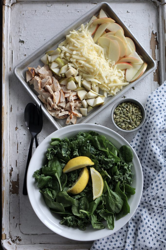 Spinach and Pear Salad with Apple Ginger Dressing
