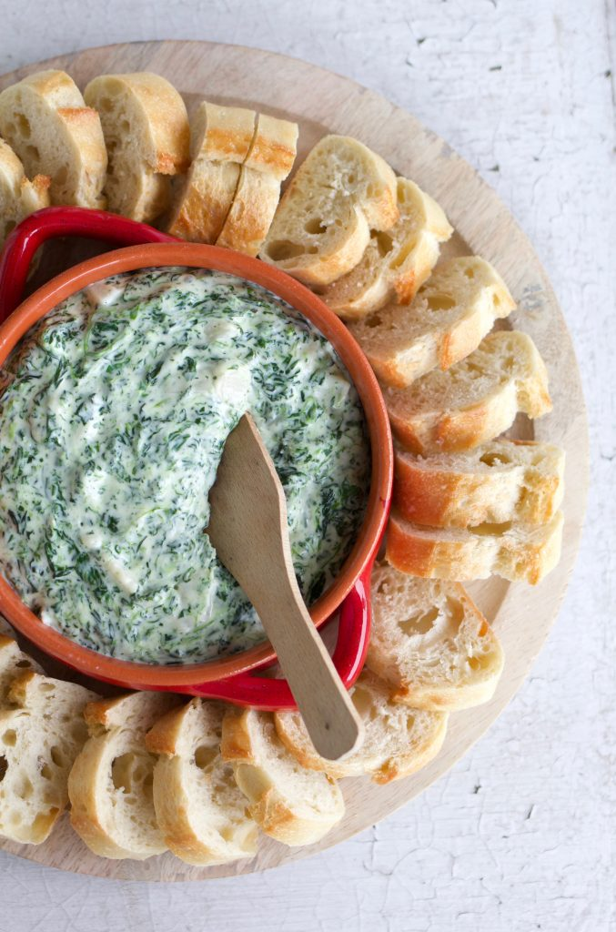10 Minute Microwave Spinach Dip