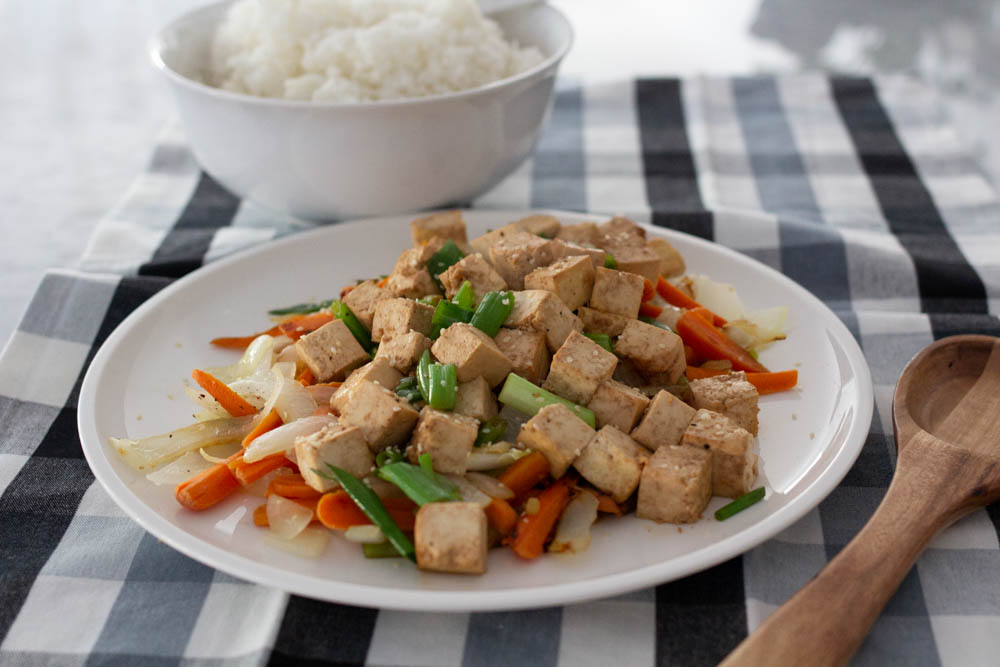 Okinawa Tofu and Vegetables