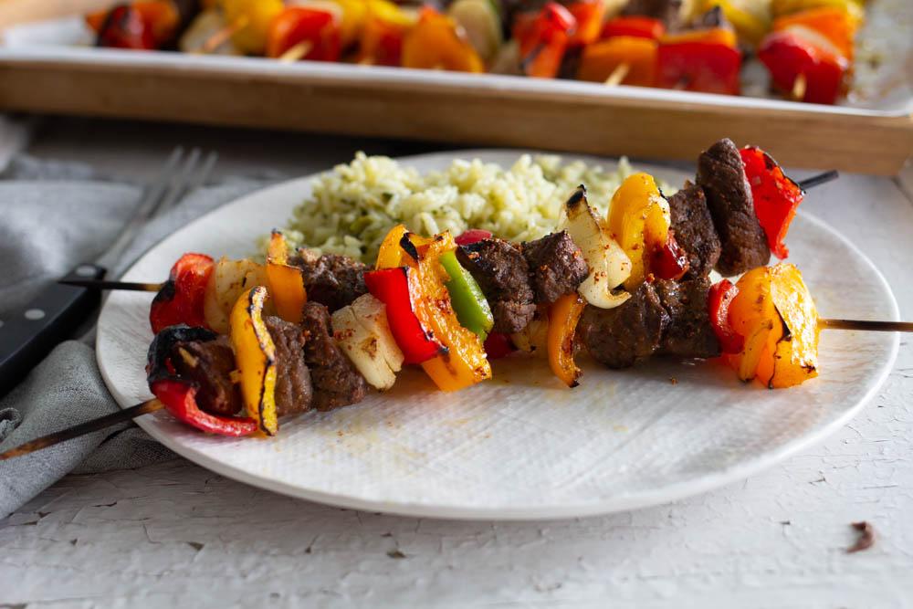 Beef Fajita Shish Kabobs