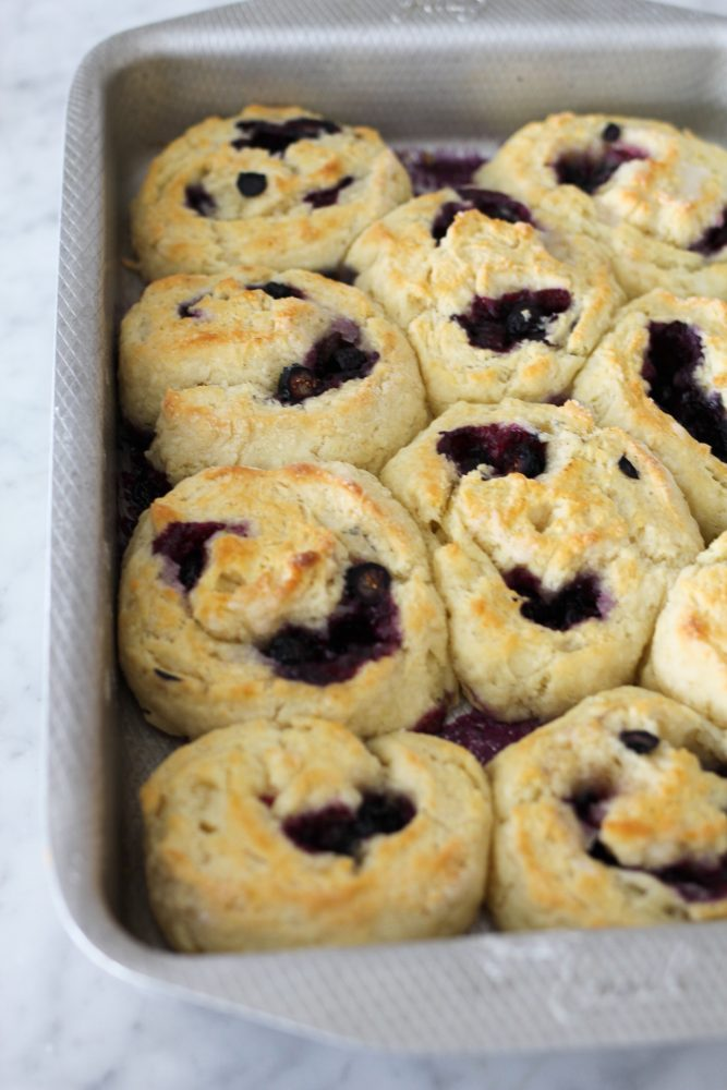 Blueberry and Lemon Cinnamon Roll Biscuits
