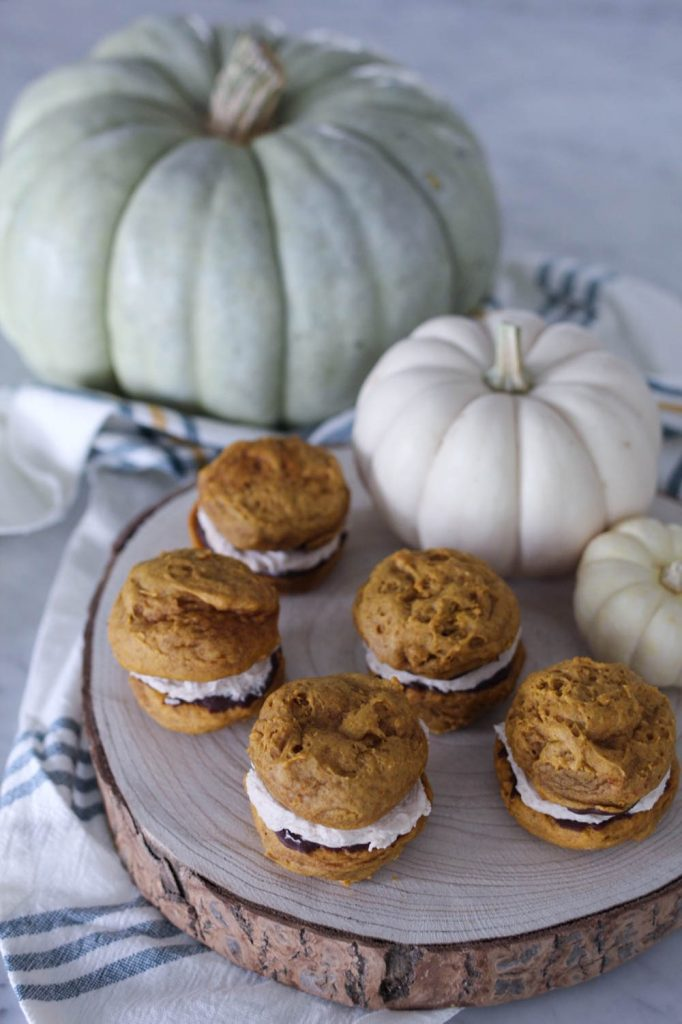 Chocolate Dipped Pumpkin Whoopie Pies