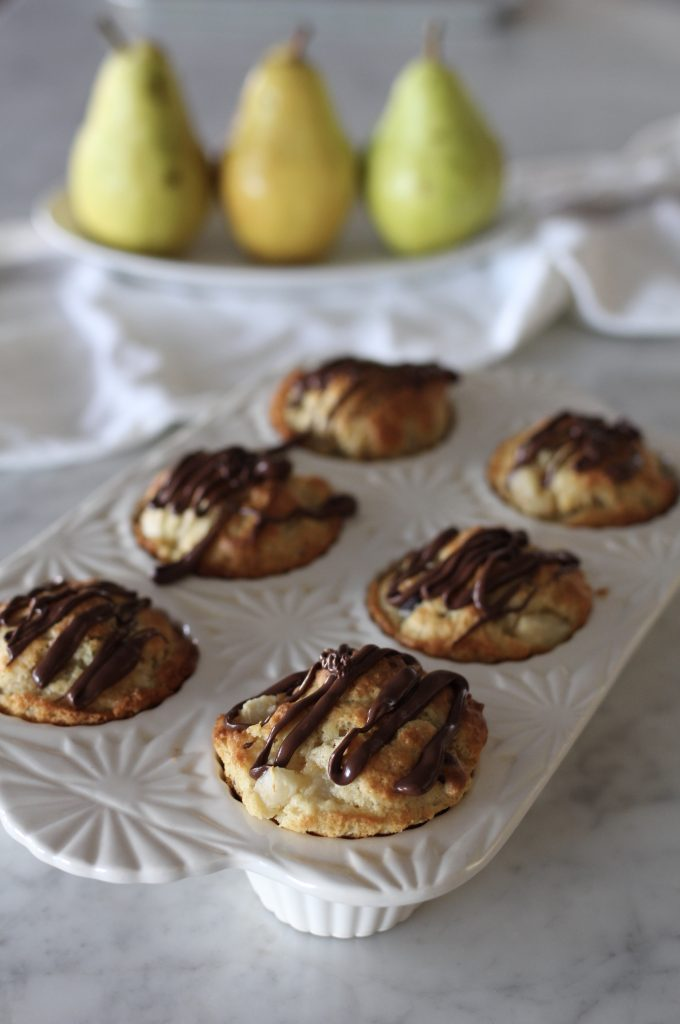 Chocolate Covered Pear Muffins