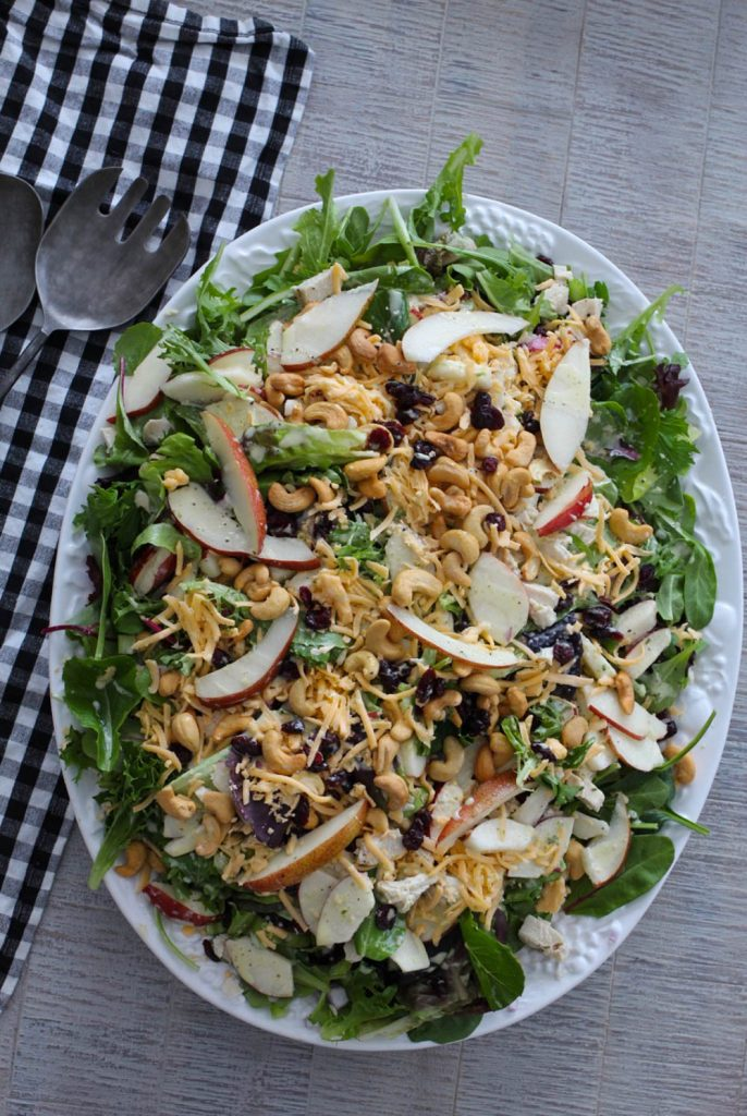 Fresh Pear Salad with Gouda Cheese