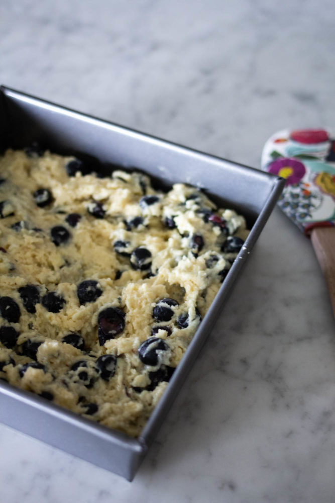 Blueberry Buckle Batter