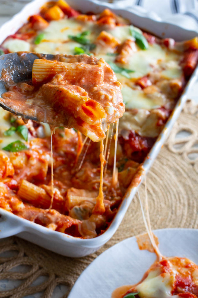 Cook's Illustrated Baked Ziti simplified!