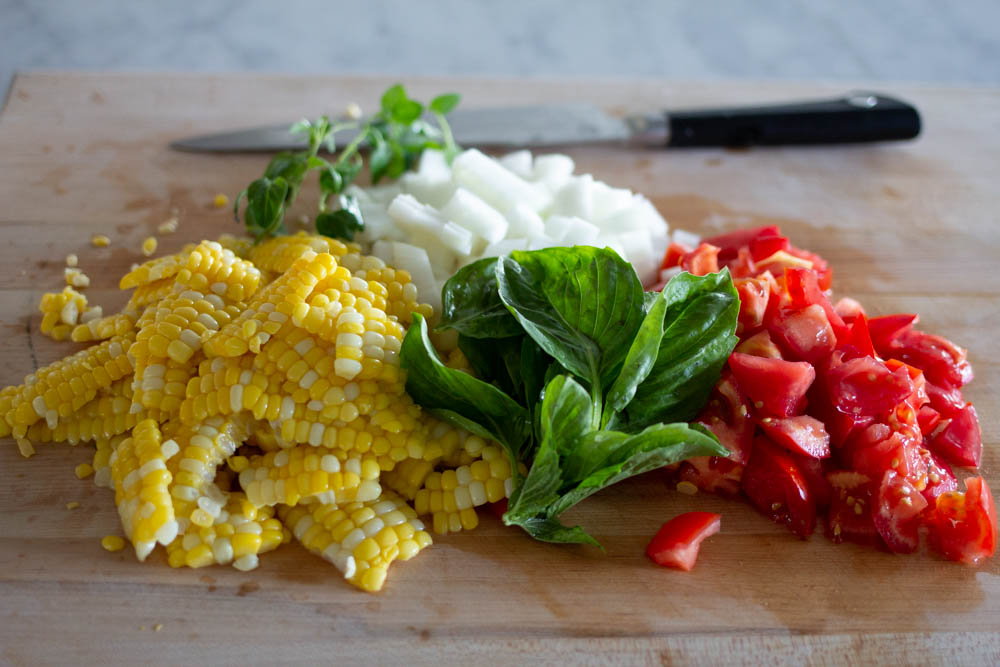 Corn and Tomato Salad ingredients