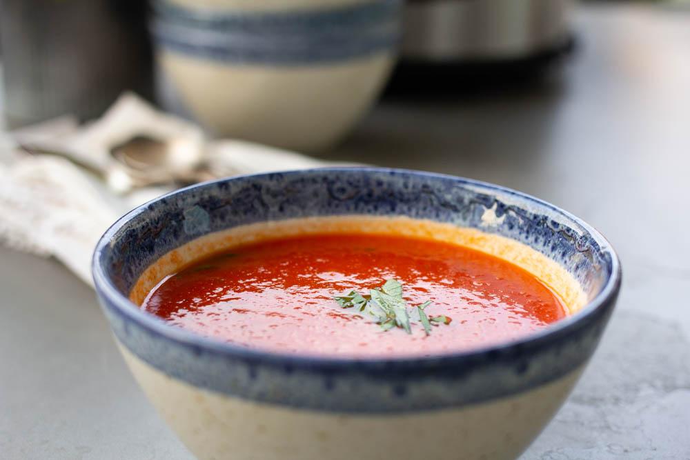 Bowl of  fresh Tomato Soup