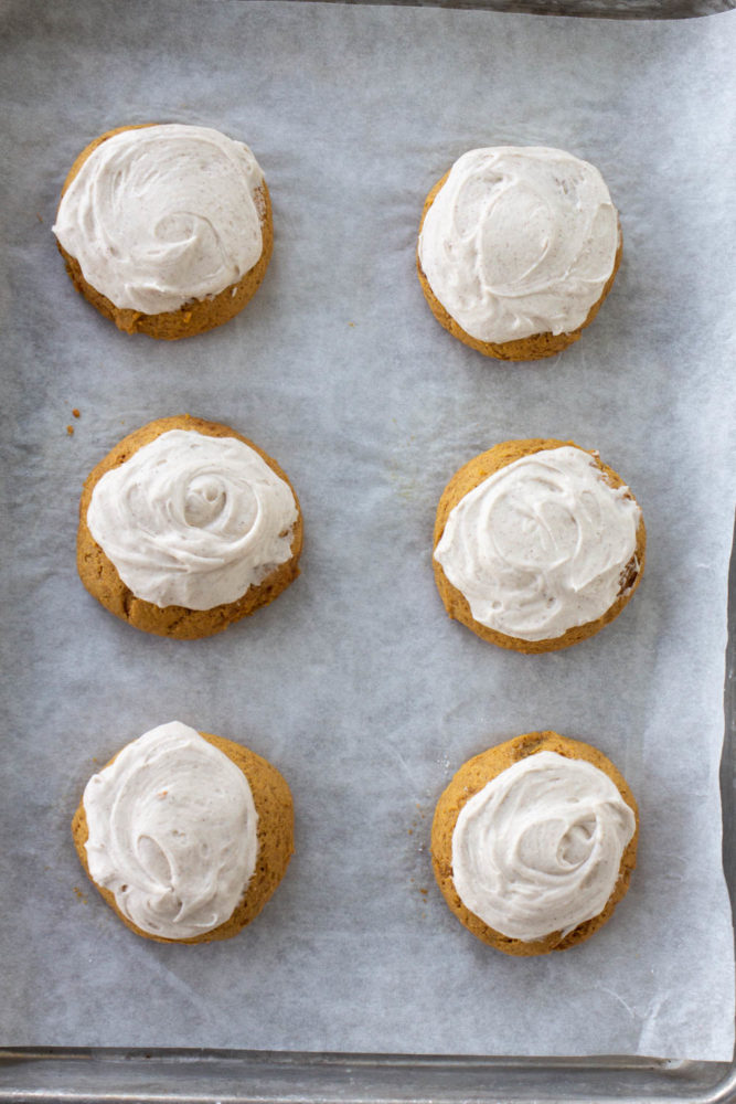 Pumpkin Spice Cookie with Maple Frosting