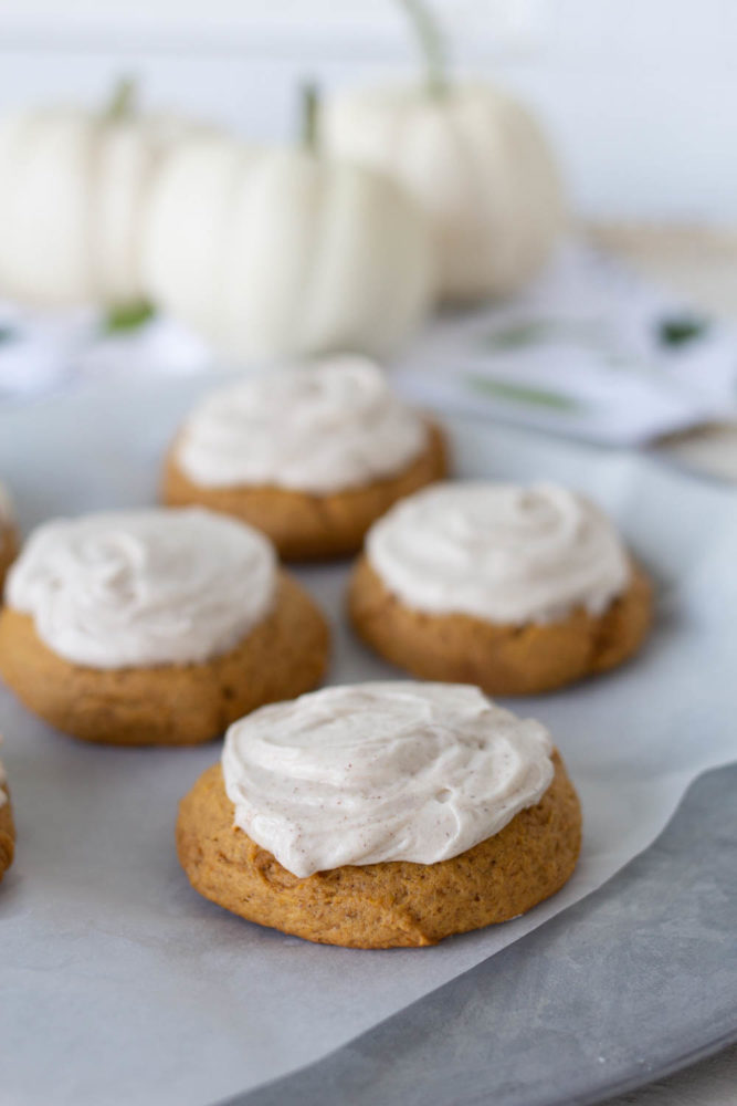 Pumpkin Cookie with Frosting