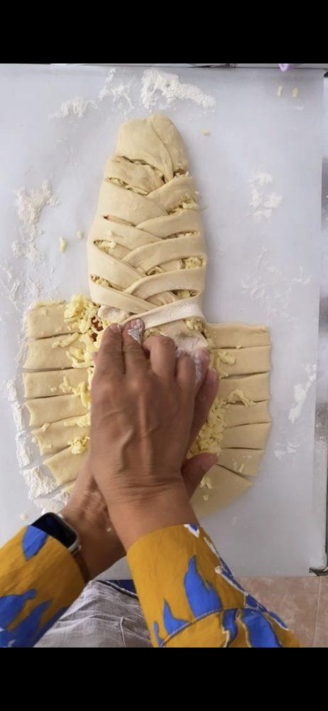 Easy Stromboli Mummy Pizza