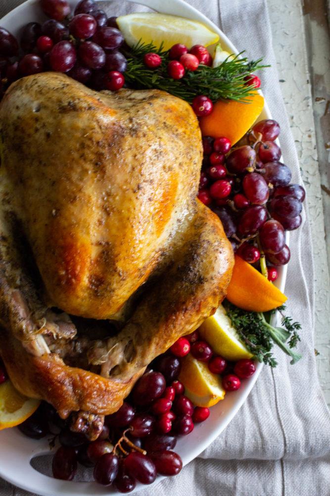 how to garnish a thanksgiving turkey