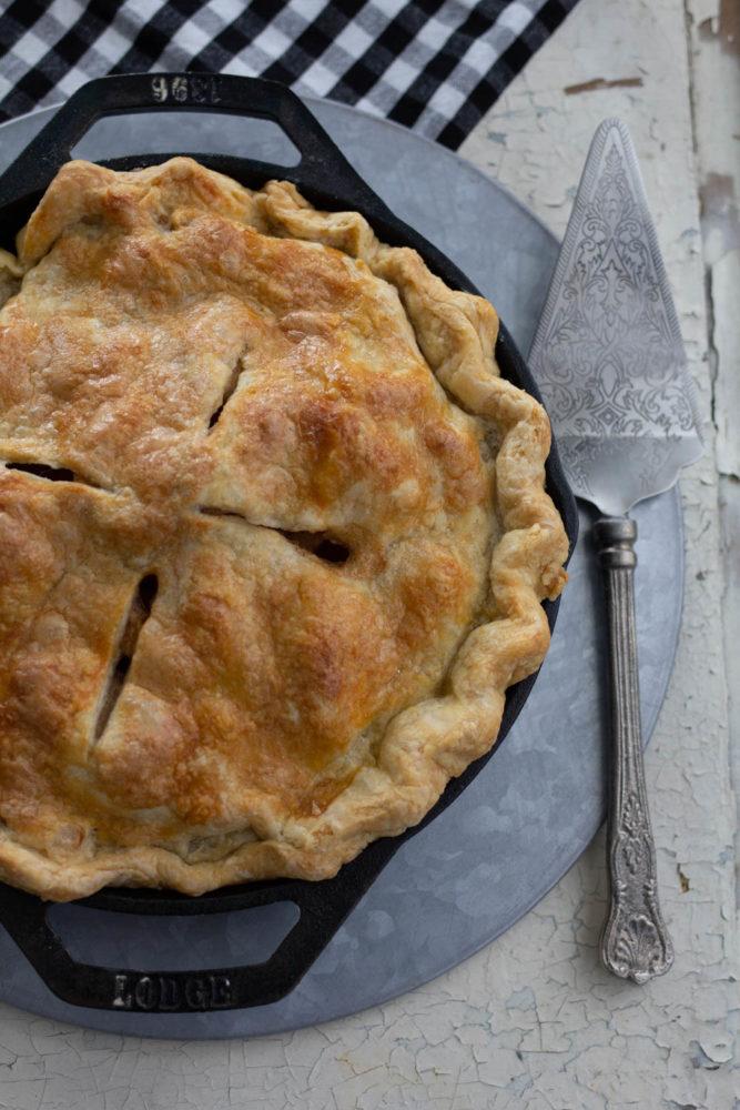 Apple Pie baked in Traeger