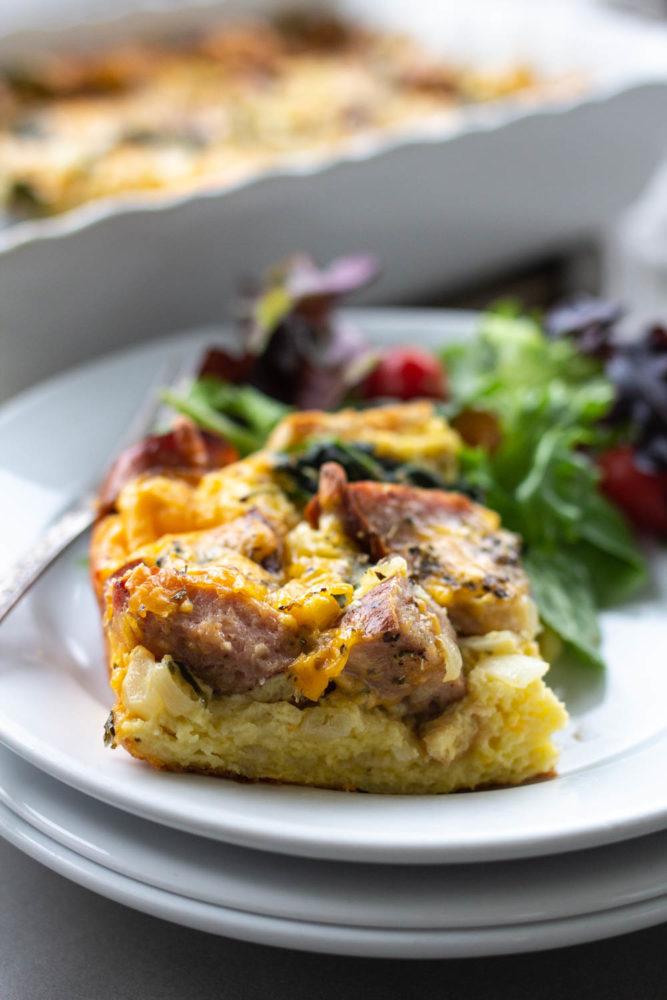 Chicken & Apple Sausage Breakfast Bake