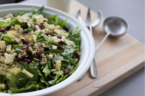 Couscous, Craisin and Pumpkin Seed Salad with Fresh Basil Dressing