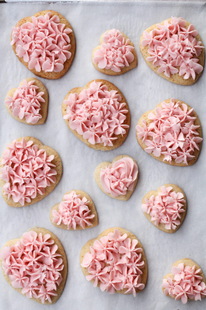 Sugar Cookies piped with frosting